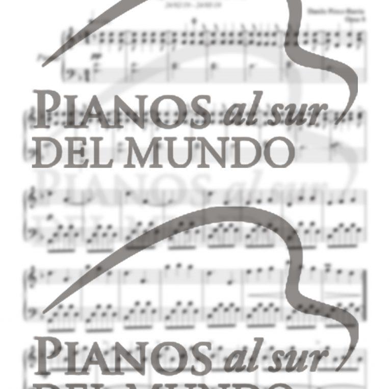 Partitura Elegía por el lago villarrica, opus 8